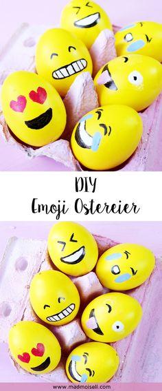 DIY Emoji Ostereier selber machen – 3 kreative Oster Deko Ideen