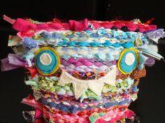 Monster Plush  Woven Scrap Monster  Cute Monster by kiranichols