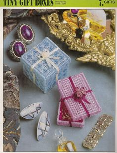 Tiny Gift Boxes Plastic Canvas Pattern by needlecraftsupershop, $3.00