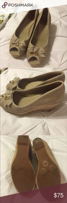 Tory Burch wedges EUC wedges, bought off here, wore twice and they are just too small!! Tory Burch Shoes Espadrilles
