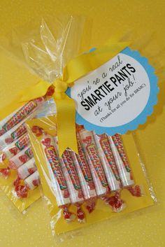 You are a real Smartie Pants - Paper Perfection: Employee Appreciation Gifts Employee Appreciation Gifts, Volunteer Appreciation, Employee Gifts, Teacher Appreciation Week, Volunteer Gifts, Employee Rewards, Work Gifts, Office Gifts, Staff Gifts