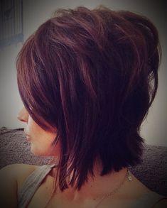 Choppy aline bob brunette #hair #beauty
