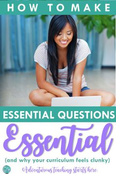Many teachers and districts have hopped on the essential questions trend, but time and time again in my conversations with teachers and administrators across the country, many are missing the point. Writing an essential question is more than just filling Instructional Strategies, Teaching Strategies, Teaching Ideas, Teaching Resources, English Lessons, Ap English, English Language, Language Arts, English Classroom
