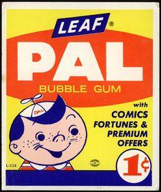 Leaf - PAL bubble gum - 1-cent vend card - 1950's 1960's by JasonLiebig, via Flickr