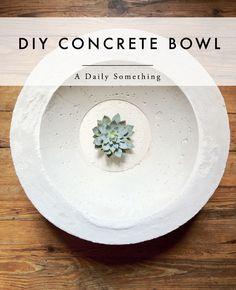 diy | concrete bowl - A Daily Something Z