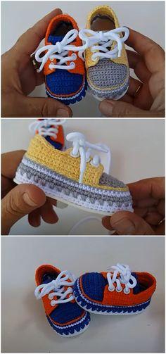 Crochet Baby Boots, Crochet Shoes, Love Crochet, Knit Crochet, Crochet Headband Pattern, Crochet Patterns, Baby Booties, Baby Shoes, Crochet Converse