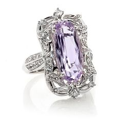 Victoria Wieck 5.63ct Pink Amethyst and Topaz Ring