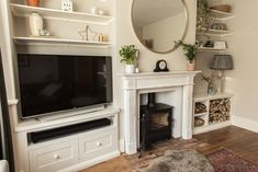How we transformed our living room from 'grantastic' to fantastic. We hope that our makeover inspires you with your renovation. 1930s Semi Detached House, 1930s Living Room, Alcove Shelving, Living Room Floor Plans, Open Plan Kitchen Diner, House Shelves, 1930s House, Contemporary Cottage, Home Safes