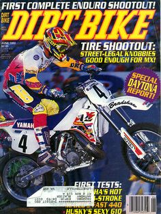 June 1992 Damon Bradshaw Yamaha Motocross, Ktm Dirt Bikes, Beast From The East, Big Rig Trucks, Dirtbikes, Vintage Bikes, Thrasher, Damon, Racing