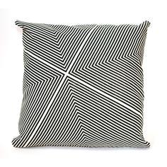 Fab.com | Four Corners Pillow 16x16 Black