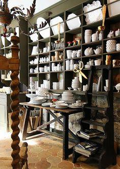 Astier de Villatte shop  4, rue du Bourbon le Chateau in the Saint-Germain quarter via Ruth Burts Interiors