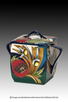 Moorcroft - Pottery Range Details - Bees in Corn - Designer Vicky Lovatt
