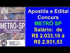 Apostila Comcurso Público METRÔ SP 2016 Nível Fundamental Comum a Todos