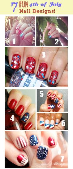 Cute 4th of July Nails