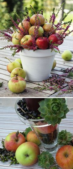 What a great idea for table centerpieces at a rustic wedding.  Also DIY! #reception ideas, #DIY