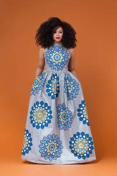 Dagana African Print Maxi Dress
