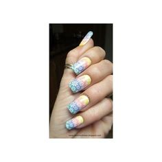 Blingfinger Mint Chocolate Nail Art ❤ liked on Polyvore featuring beauty products, nail care and nail treatments
