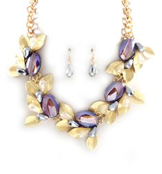 Crystal Olive Statement Necklace on Emma Stine Limited i love thissss :)