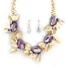 Crystal Olive Statement Necklace on Emma Stine Limited i love thissss :)