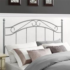 Mainstays Full/Queen Metal Headboard, Multiple Colors Image 1 of 7