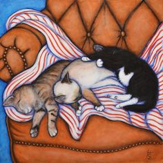"""3 Little Kittens. Original Heidi Shaulis Handmade oil painting. """"3 Little Kittens"""" is an original oil painting on a 20 x 20 inch stretched canvas, completed in June. 2014. A friend of mine was kind enough to let me use her photo of these adorable babies (thank you so much Mary Lynne!) This painting has very deep 2.5 inch gallery-wrapped edges which are painted black, giving it a substantial, modern look. The back is wired so you can hang it right up as soon as you unwrap it! Since it's..."""