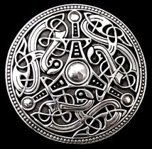 """Ringerike Disk Viking Age Disk from Gotland, Sweden Scandinavian Family Book 11th Century Solid, Hefty Casting Approx. 2 1/2"""" diameter"""
