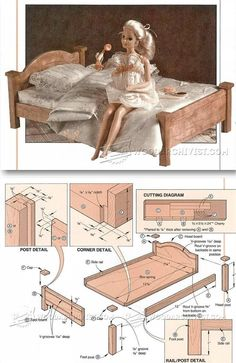 Doll Bed Plans - Children's Wooden Toy Plans and Projects | http://WoodArchivist.com
