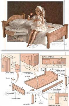 Holzarbeiten, Bastelei, Puppenstube Möbel, Kinderspielzeug, Möbel Selber  Bauen, Bastelarbeiten, Schlafzimmer