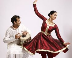 Kathak dance. Bageshree Vaze and husband Vineet Vyas.