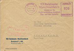 Radebeul VEB Radebeuler Maschinenfabrik Stalinstrasse 17 nach Dresden