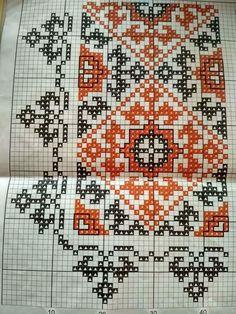 Cross Stitch Rose, Cross Stitch Borders, Cross Stitching, Cross Stitch Embroidery, Embroidery Patterns, Cross Stitch Patterns, Blackwork, Table Runner Pattern, Bohemian Rug