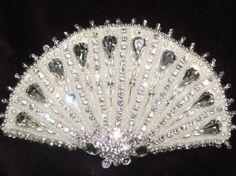 Vintage Art Deco Inspired Hand Beaded Comb / Tiara / Headpiece : Bridal / Wedding Hair