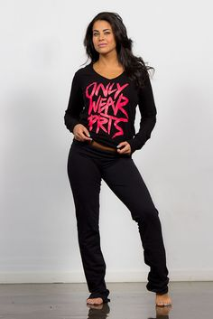 Got attitude? Only wear PRTS, Joshua Perets, black and pink, comfy sweats
