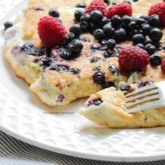 Good Food, Yummy Food, Omelet, Food Cakes, Ricotta, Cake Recipes, Breakfast Recipes, French Toast, Pancakes