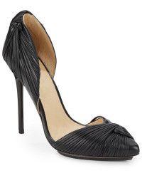 L.A.M.B Warner Leather Pumps - By Savio ... AMAZING PRICE NOW ON SALE @ $200 #designershoes #bysavio #trendy #chic #highheels
