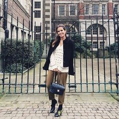 Black & Khaki today  #lfw #collageontheroad #TopshopUnique #TopshopStyle  www.liketk.it/2bGYL