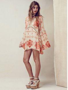 Barcelona Tunic Mini Dress Boho People Bohemian Free Hippie Chic Fashion Style