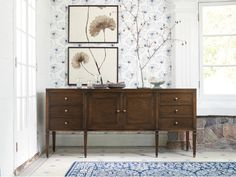 A beautiful balance of classic & contemporary design, the Arhaus Luciano Buffet In Burnished Black easily complements any dining room décor. Diy Rustic Decor, Rustic Farmhouse Decor, Rustic Kitchen, Vintage Home Decor, Vintage Furniture, Modern Decor, Shabby Chic Homes, Shabby Chic Decor, Nightstands