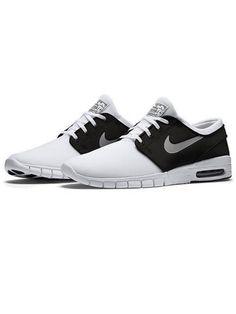Nike Stefan Janoski Max White/ Metallic Silver Black