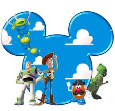 Toy Story in Mickey Heads.