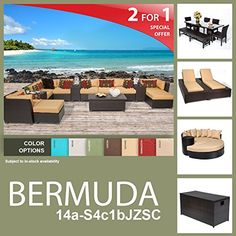Bermuda 24 Piece Outdoor Wicker Patio Furniture Package BERMUDA14aS4c1bJZSC >>> Be sure to check out this.