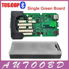 84.00$  Buy now - http://alintd.worldwells.pw/go.php?t=32788546262 - Quality A++Single One Green Board TCS cdp pro with Bluetooth 2014.R2/2015.R3 optional software+ Plastic Suitcase for Cars Trucks