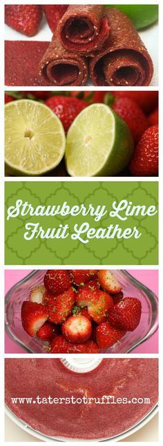 Strawberry and Lime Fruit Leather is a yummy vegan and paleo treat, perfect for summer!  You can make this recipe in a food dehydrator or low oven.