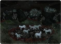 ghost horses by beccastadtlander on Etsy,