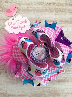 Hoot Couture Over the Top Boutique Bow Easter by ChicTweetBowtique, $12.00