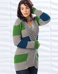 Retreat Cardigan - published in Crochet! Magazine, Winter 2015