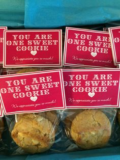 CNA Appreciation Week-- YOU ARE ONE SWEET COOKIE--White Chocolate Macadamia Nut Cookies