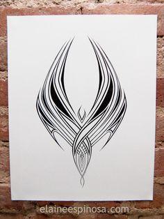 Pen & ink on bristol board, Sorry this took so long. Phoenix Tattoo Feminine, Tribal Phoenix Tattoo, Small Tattoo Designs, Small Tattoos, Finger Tattoos, Body Art Tattoos, Ave Tattoo, Phoenix Drawing, Angel Wallpaper
