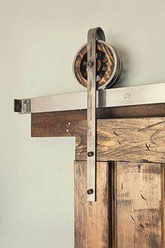 5 - 6 Ft Rustic Vintage European Sliding Steel Barn Wood Door Closet Hardware Track  FREE SHIPPING