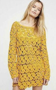 Slide View Little Fan Crochet Tunic Crochet Tunic, Crochet Clothes, Crochet Lace, Long Tunic Tops, Kaftan Tops, Finger Crochet, Crochet Magazine, Lace Making, Crochet Fashion